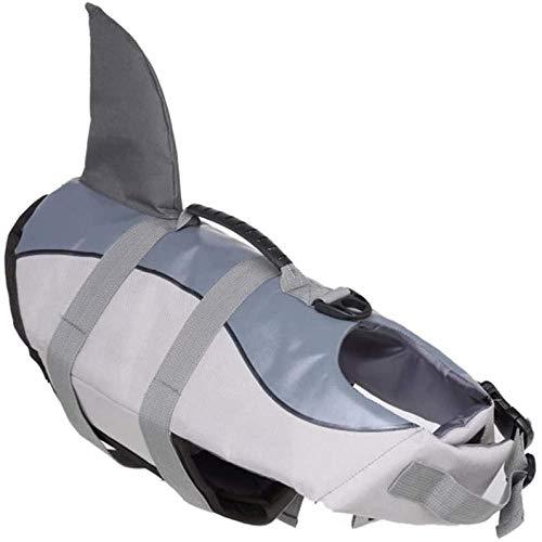 JWCN Chaleco salvavidas para perro, chaleco de buceo para perro, chaleco salvavidas ajustable para perros para deportes acuáticos, piscina, playa, exterior, verde, grande