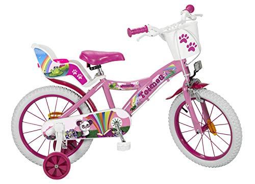 Fantasy Kinderfahrrad Mädchenfahrrad 16 Zoll rosa mit Korb und Puppensitz vormontiert