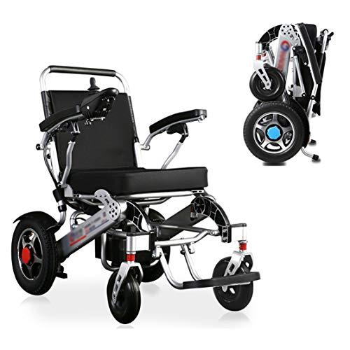 GRF-XB Silla de Ruedas eléctrica Plegable, Ligera Inteligente sillas de Ruedas eléctricas, Seguro y fácil de Conducir, duración de la batería de hasta 20 km / 360 ° Joystick/Carga Segura de 120 kg