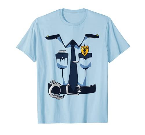 Traje divertido del policía de Halloween, uniforme del oficial de policía de la diversión Camiseta