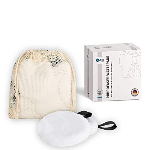 N-PIR PREMIUM ABSCHMINKPADS WASCHBAR I DEUTSCHE MARKE als 10er SET I innovative Wattepads aus Mikrofaser I Make-Up Abschminktücher 2.0 nachhaltig und wiederverwendbar I inkl. Tasche