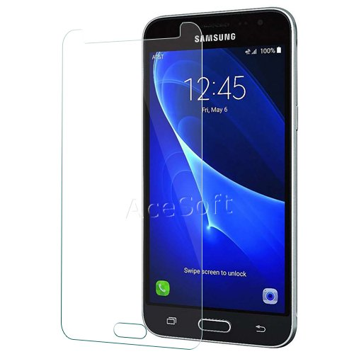 100% Definition 9H Hardness Scratch Resistant Shockproof Tempered Glass Screen Protector Guard Shield [Easy to Install] for Samsung Galaxy J36V SM-J320V Android Phone