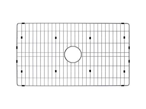 Soleil SSGR-3118R Single Bowl Radius Kitchen Sink Grid in Brushed Stainless Steel