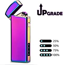 Windproof Arc Lighter X Plasma Lighters Rechargeable USB Lighter Electric Lighter Candle Lighter-with LED Display Power (Magic)