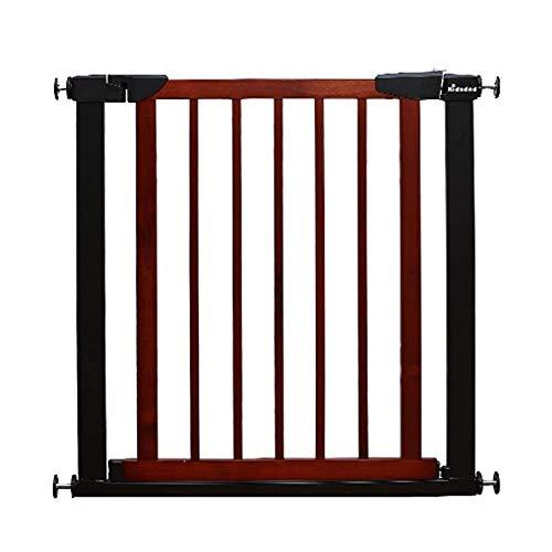 Puertas de escalera Baby Gates Baby de montaje a presión para puerta, puerta de metal para perros con cierre automático para mascotas, puerta peatonal de madera, 75-166 cm extra ancho (tamaño: 117-12