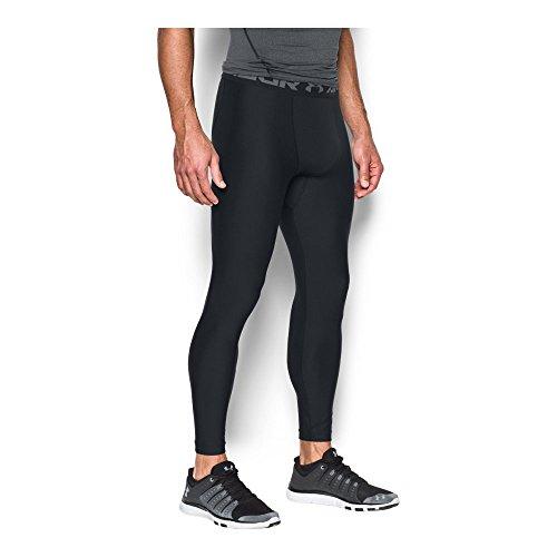 Under Armour HeatGear 2.0, komfortable Sportleggings für Männer, leichte Laufhose mit Kompressionspassform Herren, Black / Graphite , M