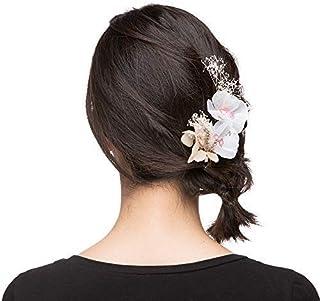 手工制作新娘发饰件发箍发带 3D 花朵串珠发夹 DHE16