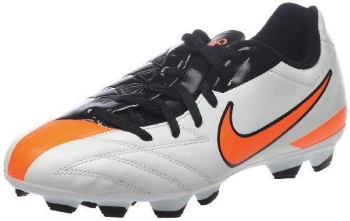 Nike Jr T90 Shoot Iv Fg Jungen Sportschuhe - Fußball, weiß - schwarz - orange, 35