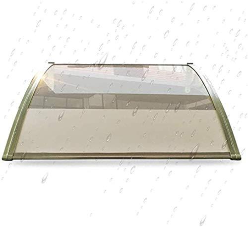 YONGQUAN Marquesina Puerta del pabellón Porche Porche Refugio Capota Lluvia Nieve toldo de Sombra Refugio de Protección fácil Montaje - de láminas de policarbonato Transparente