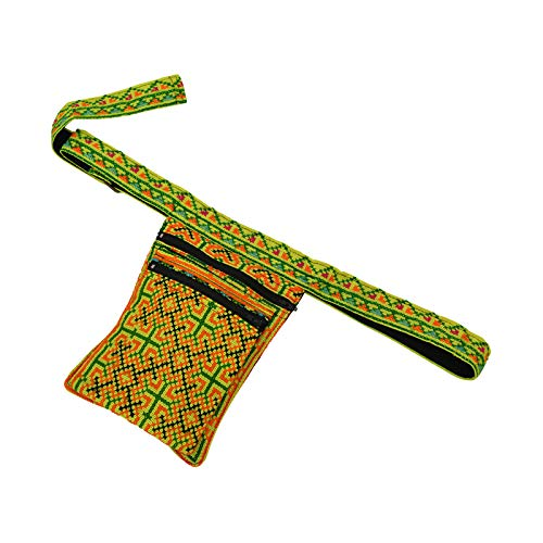 virblatt Herren goa Bauchtasche Festival gürteltasche Vintage Damen Hüfttasche - Hmongland gn