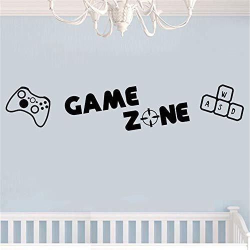 Wandtattoo Wohnzimmer Wandtattoo Schlafzimmer Videospieldekor Gaming-Abziehbilder Game Zone Ps3 Ps4 Xbox Computerspiele Art Decals Home Room