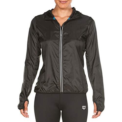Arena W Run Windbreaker Cortavientos para Correr Mujer, Black, XL