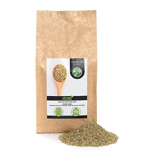 Oregano ingewreven (500g), oregano voorzichtig gedroogd, oregano kruiden 100% puur en natuurlijk voor de bereiding van kruidenmengsels