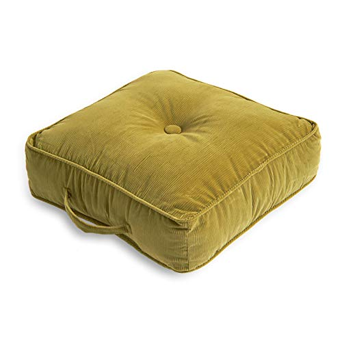 South Pine Porch Oakford 21-inch Square Floor Pillow, Olive