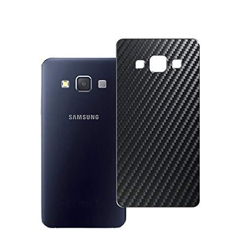 VacFun 2 Piezas Protector de pantalla Posterior, compatible con Samsung Galaxy A3 2014 2015/A300F/A300FU/A300G/A300H/A300M, Película de Trasera de Fibra de carbono negra