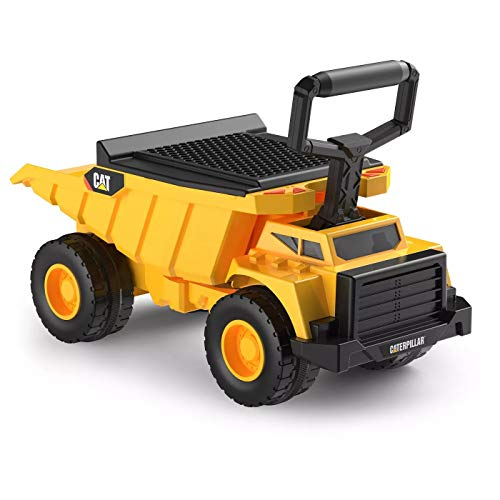 Kid Trax CAT Shovel and Sift Dump Truck Ride-On Toy for Kids and Children Ages 1 - 3 Years Old, Featuring Realistic Job Site Sounds and Removable Sifter and Shovel, Yellow/Black
