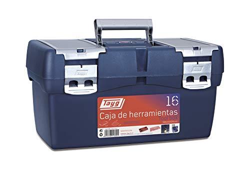 Tayg 16 Caja Herramienta Plástico, Azul/Rojo, 500 x 258 x