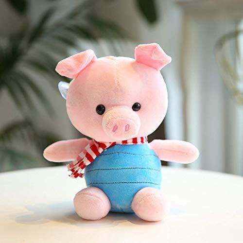 1 juguete de peluche de cerdo súper lindo, animal de dibujos animados suave, cuatro muñecos de peluche de cerdo, colgante de decoración de ventana, regalo de cumpleaños de Navidad para bebé 22 cm
