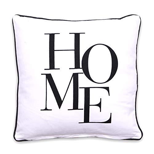 Homevibes Cojin con Frases, Cojin de 40 x 40 cm con Frase, Cojin con Estampado, Cojín con Ribete para Sofa, Dormitorio o Comedor, Varios Diseños (Home)