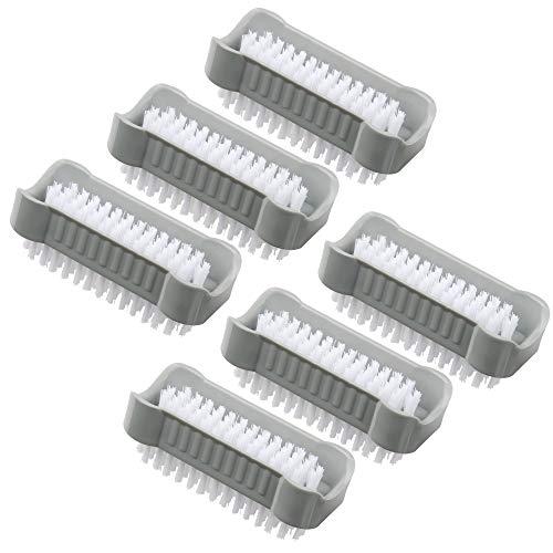 6 Stück doppelseitige Handwaschbürste/Nagel-Bürste zum Schutz vor Bakterien und Viren