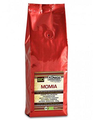 Fairtrade Kaffee, MOMIA Hausmischung, BIO, gemahlen, vollmundig, mild-kräftig, schonende Langzeitröstung, 500g - Bremer Gewürzhandel