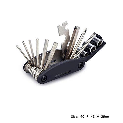 dyudyrujdtry 15 In 1 Bike Reparatie Set Sleutel Schroevendraaier Ketting Koolstofstaal voor Home Decoratie