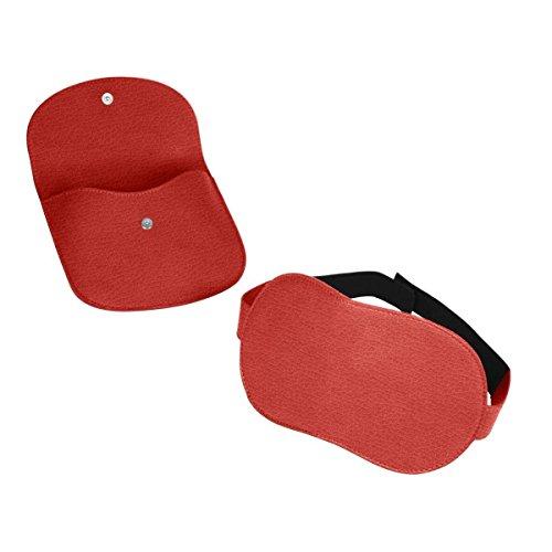 Lucrin - Schlafmaske - Rot - Leder genarbt