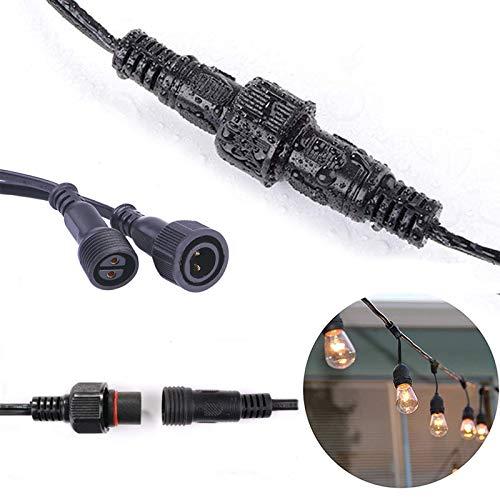 3M/9.8Ft Cable de Extensión Impermeable IP65 para G40 Guirnaldas Luminosas [Clase de eficiencia energética A+]