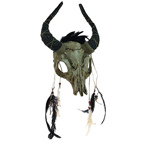 Attitude Studio Yak Skull Devilish Full Mask Costume Accessory – Ivory