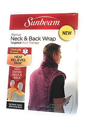 Sunbeam X-Long Renue Upper Back, Neck & Shoulder Heating Pad (color may vary)