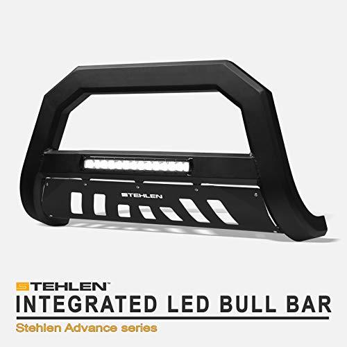 Stehlen 733469493044 Advance Series Aluminum LED Bull Bar - Matte Black For 2009-2018 Dodge Ram 1500/2019-2020 Classic