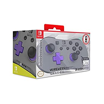 PDP Gaming Small Wireless Controller  Grey Purple - Nintendo Switch