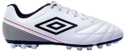 Umbro Classico VII AG, Botas de fútbol para Hombre, Blanco (White/Dark Navy/Vermillion D62), 42 EU