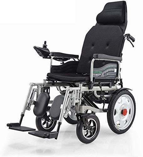 WERFFT Silla de Ruedas eléctrica Plegable Ligero eléctrico portátil Vespa médico para Personas de Movilidad y la Movilidad de Ancianos