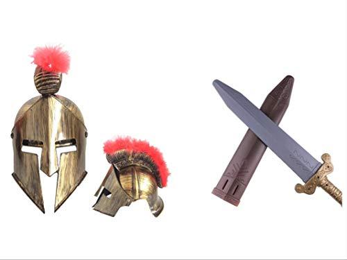 thematys Sparta Set Helm und Schwert Kostüm Set für Erwachsene - perfekt für Karneval und Fasching - Einheitsgröße