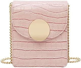 TOOGOO Crocodile Leather Bag Ladies Shoulder Chain Messenger Bag Summer Mobile Phone Bag Yellow Grain Random