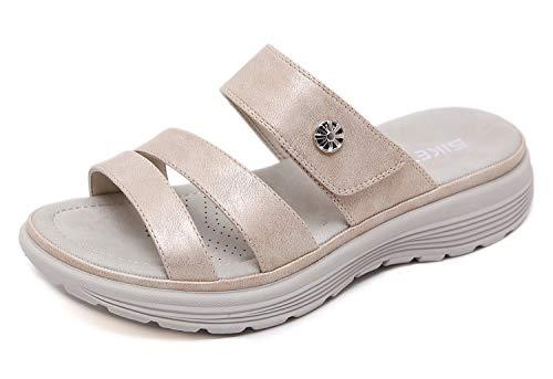 Sandalias con Punta Abierta para Mujer Sandalia de Plataforma Zapatos de Cuña Cómodos Zapatillas de Playa Verano