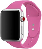 AdMaster Sport Band for Apple Watch 42mm 38mm, Soft Silicone Strap Replacement iWatch Bands for Apple Watch Sport, Series 3, Series 2, Series 1 S/M M/L