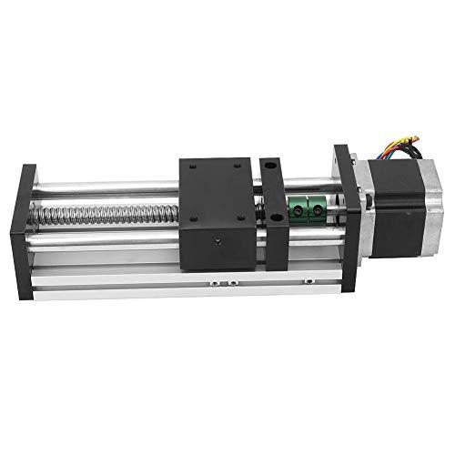 100 mm Nema23 Cable Motor Paso a Paso,1605 Riel Guia de Movimiento Lineal Deslizante Recorrido efectivo de 100 mm de Alta Precisión para Aplicaciones de Movimiento Alternativo Lineal