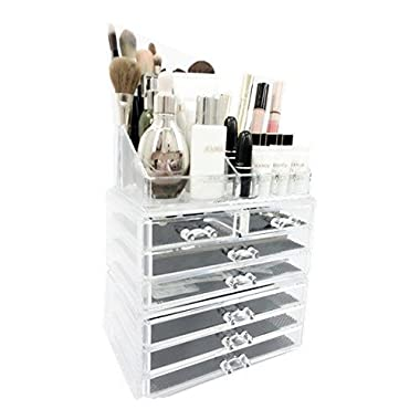 Unique Home Acrylic Jewelry & Cosmetic Storage Makeup Organizer