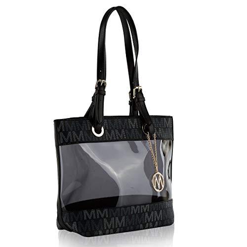 MKF Collection MKF-LKC-MU6394BK Munshi M Signature Tote Bag by Mia K. Farrow - Black