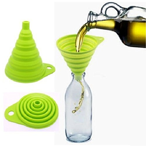 Kasstino Mini Silicone Gel Practical Collapsible Foldable Funnel Hopper Kitchen Tool