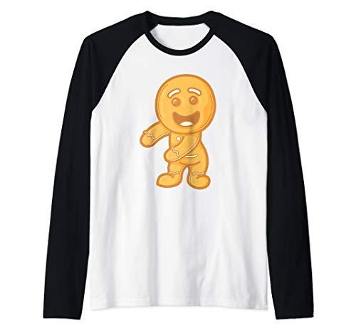 Gingerbread Floss Dance Christmas Pajama Tee Raglan Baseball Tee