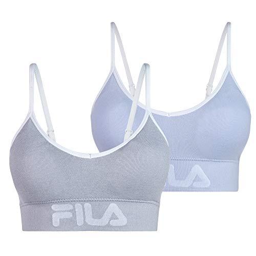 Fila Women's 2-Pack Classic Logo Cotton Cami Low Impact Sports Bra
