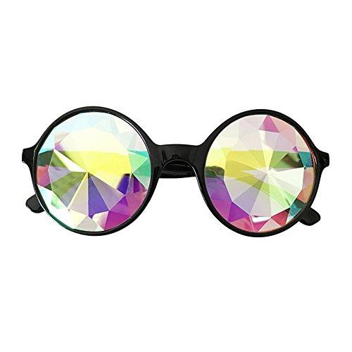 Yvelands Kaleidoskop Brille Rave Festival Party EDM Sonnenbrille gebeugte Linse