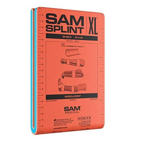 SAM Splint - Férula (91,4 cm), color naranja y azul