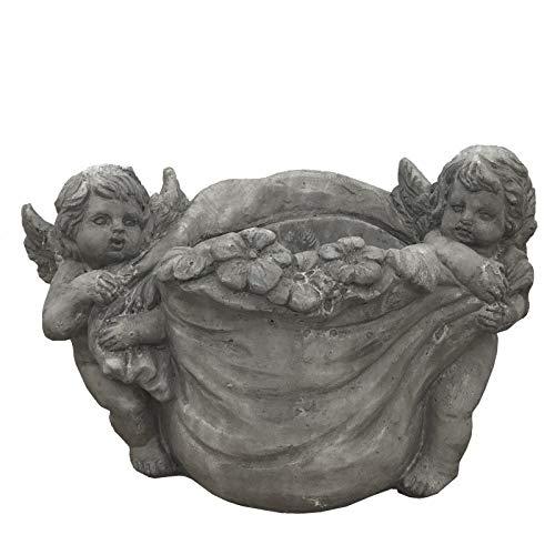 chemin_de_campagne Pot Cache Pot Jardinière Coupe Ange Terre Cuite 20 cm x ø18 cm