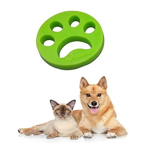 Pamura - Fusselpfote - Tierhaarentferner - Tierhaarentfernung für Waschmaschine und Trockner - wiederverwendbar - einfache Reinigung - Grün