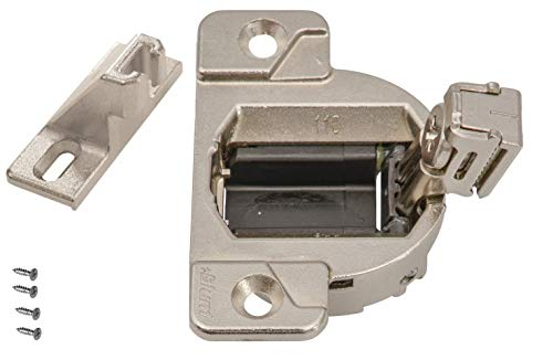 Blum 33.3600 110 Degree Compact 33 Hinge Cup, Screw-on. Including Base Plate with 1/2 Overlay 130.1100.23 (Pack of 2)