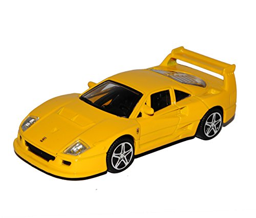 Bburago Ferrari F40 Competizione Coupe Gelb 1987-1992 1/43 Modell Auto mit individiuellem Wunschkennzeichen